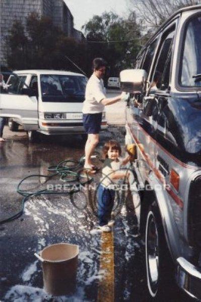 me-washing-my-dads-van